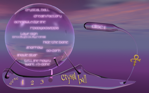 Prince's Crystal Ball Online Lyric Book