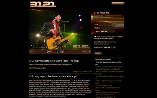 Prince's Official Site 3121.com