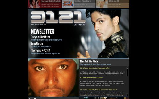Prince's Official Site, 3121.com